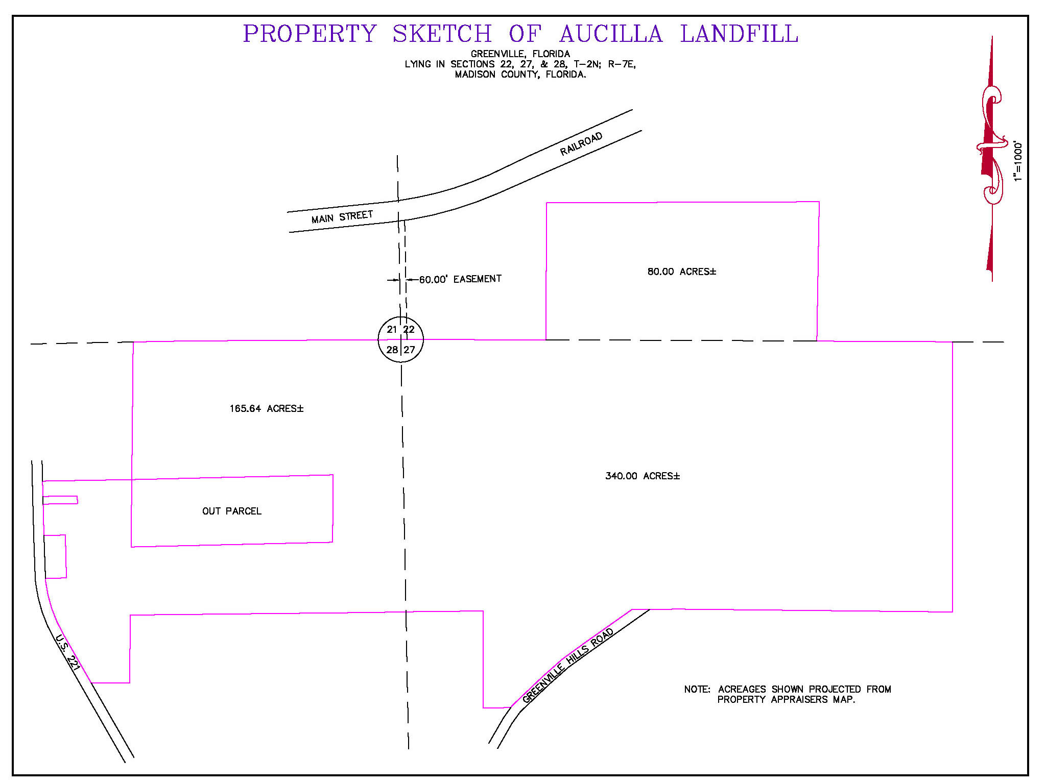 Greenville Florida Map.Service Area Aucilla Area Solid Waste Administration